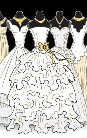 - Der grosse Tag naht und schon bald wirst du von deinem Traummann an den Altar geführt. Die Vorbereitungen für die Hochzeit laufen auf Hochtouren, nur in einem Punkt bist du noch etwas unschlüssig: Das Brautkleid. Seien wir ehrlich - das Brautkleid ist DAS Accessoire und zugleich DER Mittelpunkt deiner Hochzeit. Keine Frage also, es muss absolut perfekt sein! Dies ist jedoch nicht immer ganz einfach, denn die Auswahl ist unglaublich gross und du fragst dich insgeheim: Welches Brautkleid passt denn eigentlich zu mir und meiner Figur? Während sich die einen für ihre Hochzeit ein pompöses Prinzessinnen-Kleid wünschen, mögen es andere lieber schlicht und einfach und setzen daher auf eine traditionelle A-Linie. Ob aus Satin, Seide oder Tüll, mit feiner Spitze verziert oder mit Perlen bestickt - die Möglichkeiten der verschiedenen Brautkleider sind unbegrenzt. Gerade deshalb ist es wichtig, dass du dir ein Kleid aussuchst, in welchem du dich einerseits absolut wohl fühlst und welches andererseits mit dem richtigen Schnitt und Dekolleté sowie kleinen Raffinessen deine eigene Schokoladen-Seite zur Geltung bringt. Gerne helfen wir dir im Vorfeld deines Beratungstermins dabei, einen Überblick über die verschiedenen bei uns erhältlichen Schnitte und Formen der Brautkleider zu verschaffen.Viel Spass mit unserem kleinen 1x1 der Brautkleid-Schnittformen!