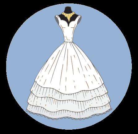 Pompös und perfekt für breite Hüften: Das Duchesse-Kleid - Wolltest du dich an deiner Hochzeit schon immer als Märchenprinzessin fühlen, so setzt du auf ein Kleid im Duchesse-Schnitt: Romantisch, glamourös und traumhaft schön. Das Oberteil ist eine figurbetonte und trägerlose Korsage, welche in einem weit aufgestellten, glockenförmigen und bodenlangen Reifrock mündet. Besonders die trägerlose Variante dieses Modells wirkt aufregend. Mit Perlen, Spitzen, Stickereien oder besonderen Accessoires kann dem Kleid sehr einfach das gewisse Etwas verliehen werden. Das Duchesse-Kleid ist für Frauen mit einem eher schmalen Oberkörper, schlanker Taille und vergleichsweise breiterer Hüfte optimal geeignet. Der Rock hilft ausserdem dabei, die femininen Rundungen optimal in Szene zu bringen. Denn während ein grosser Brustumfang durch die Korsage feminin wirkt, können Verzierungen und Wickeleffekte einen eher kleinen Oberweite mehr Volumen verleihen.