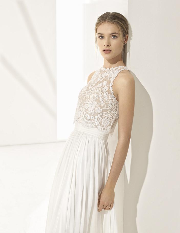 Crop tops - Wer nächstes Jahr ein mega angesagtes Brautkleid tragen möchte - träg kein Kleid sondern ein Rock und ein Top! Je nach Designer, Modell und Stoffe kann diese Art des Tragens romantisch, sexy oder aber elegant wirken.