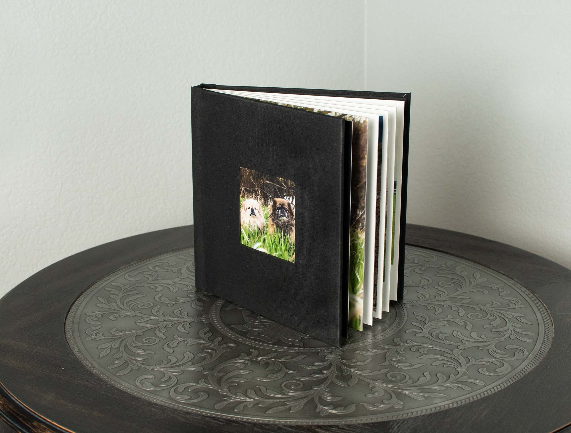 Custom Albums - Display your images in custom album that will look stunning on your coffee table, mantle, or anywhere in your home. Images are printed on durable, stylish press paper in a smooth matte finish. Fabric covers are available in a wide range of colors.