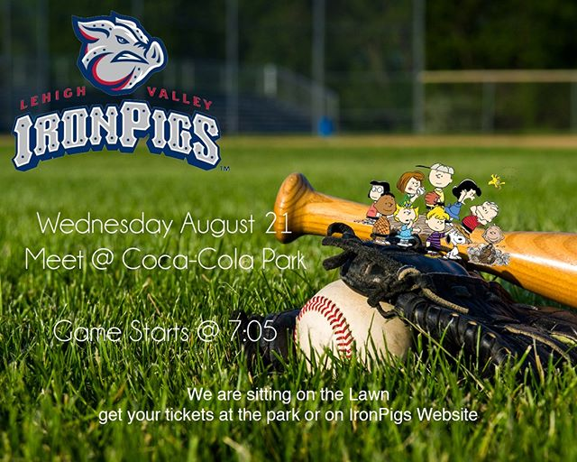 Calvary Students are going to the game tomorrow night! Get your tickets online or at the park. we are sitting in the Lawn, see you there!  #takemeouttotheballgame #ironpigs #oinkon #baseball #studentministry