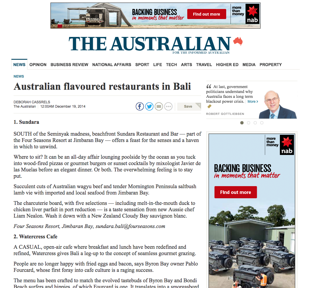 Featured in The Australian    CLICK TO SEE MORE