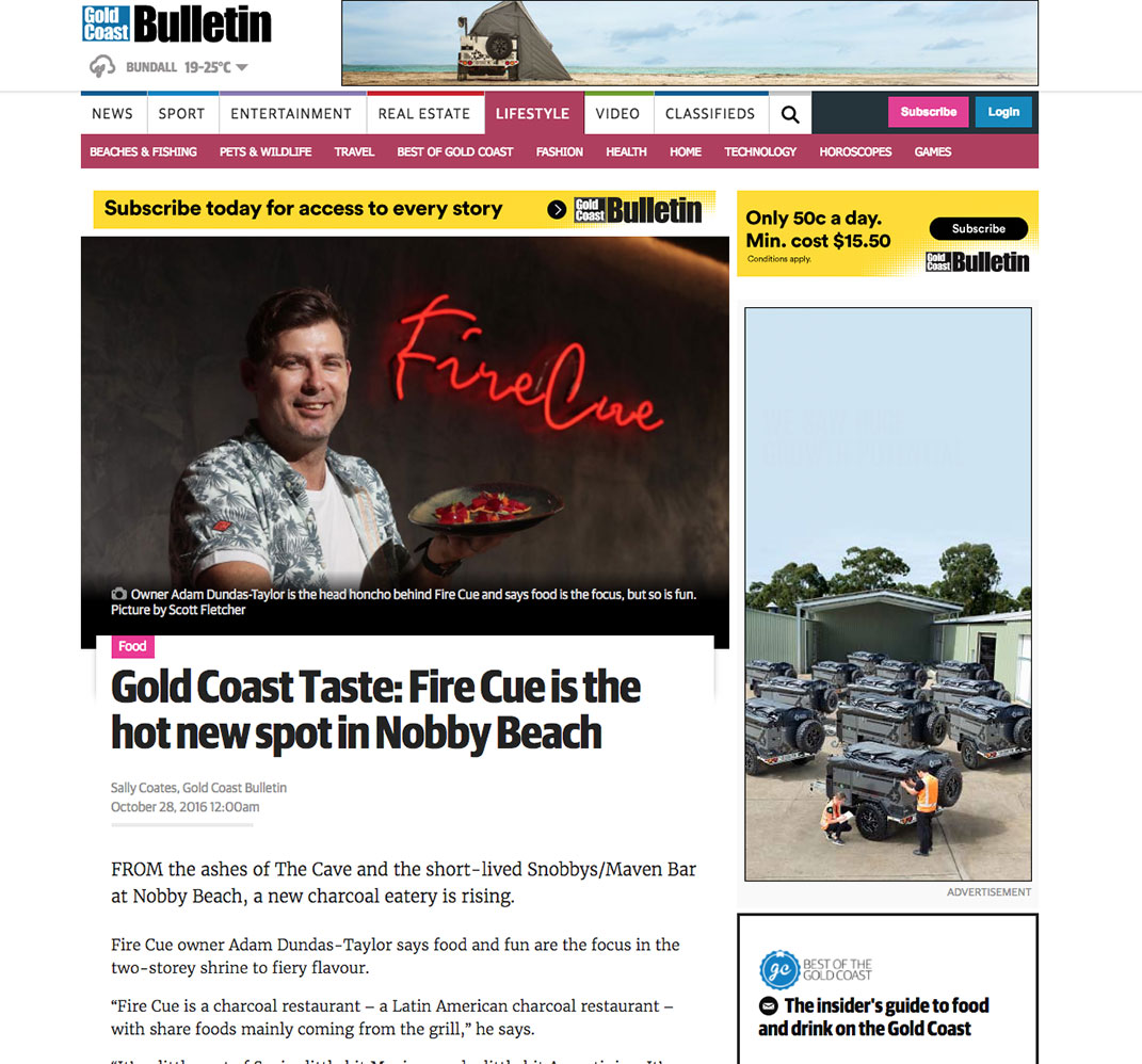 Featured in Gold Coast Bulletin    CLICK TO SEE MORE