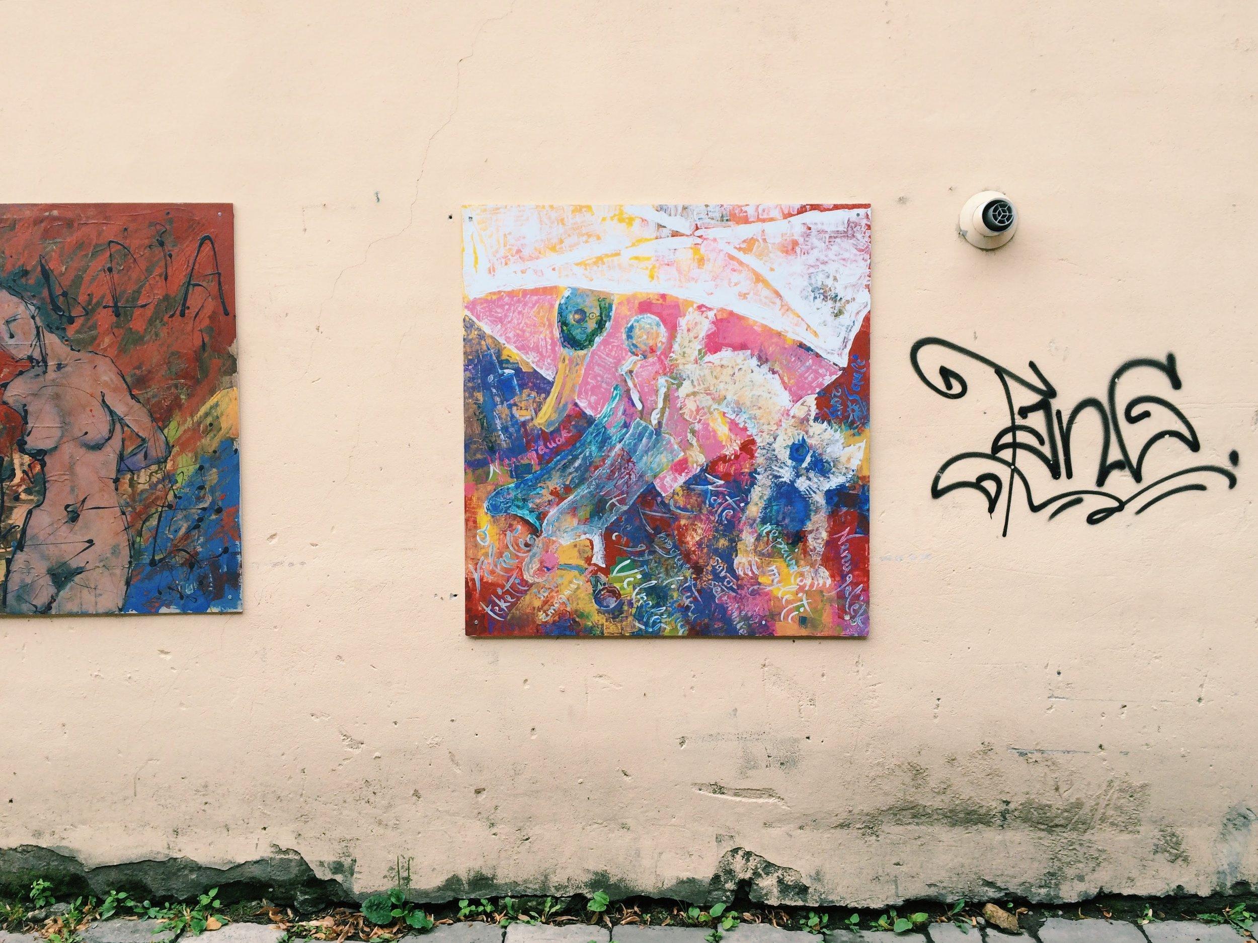 Urban art in Vilnius, Lithuania.