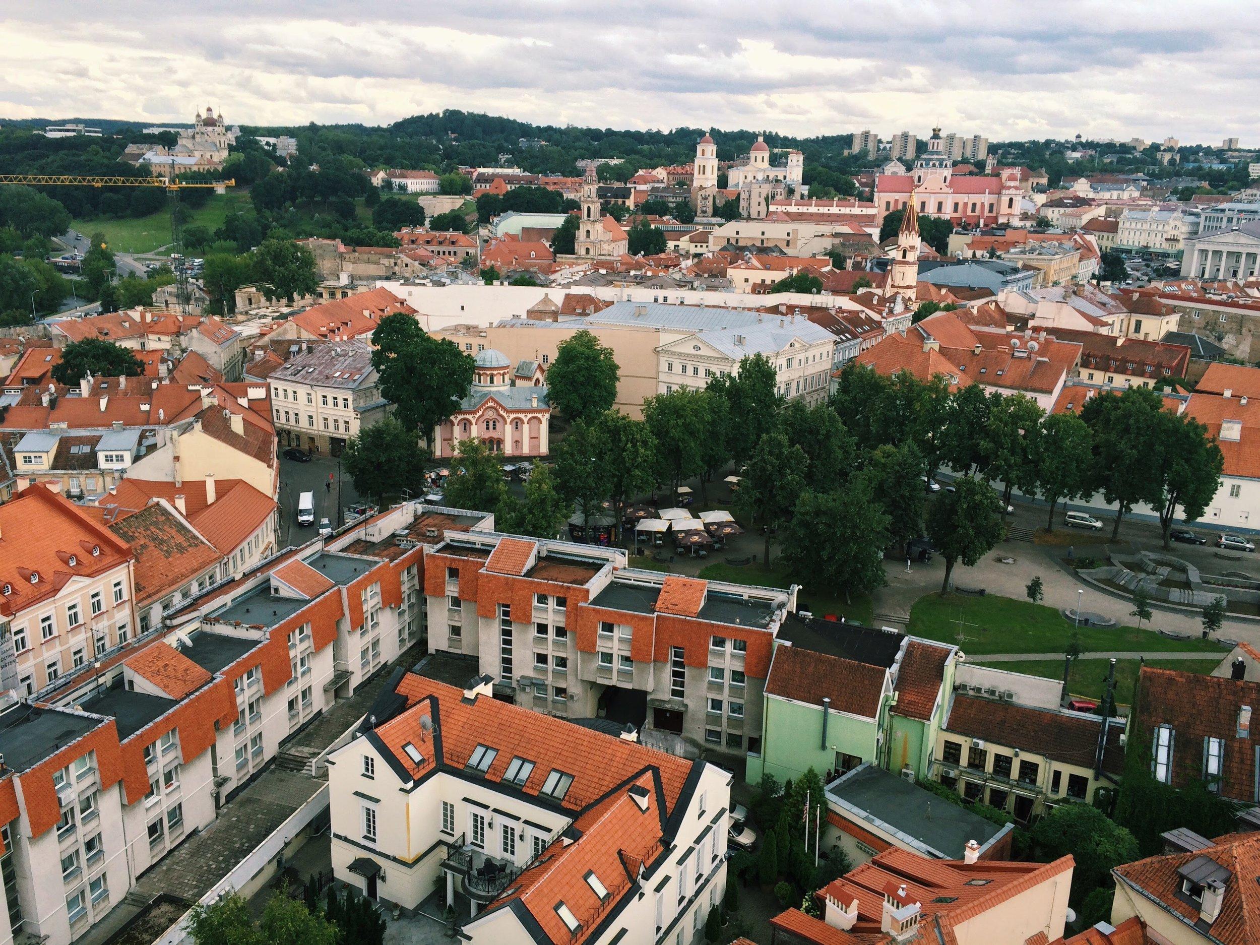 Aerial view of Old Vilnius