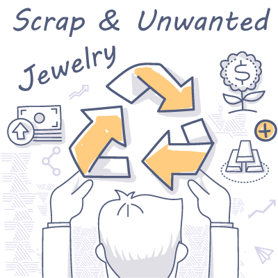 Scrap gold recycling into cash