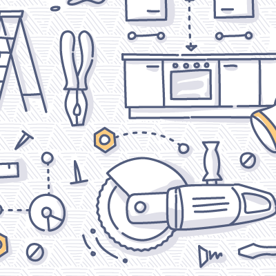 Power Tools doodle drawing