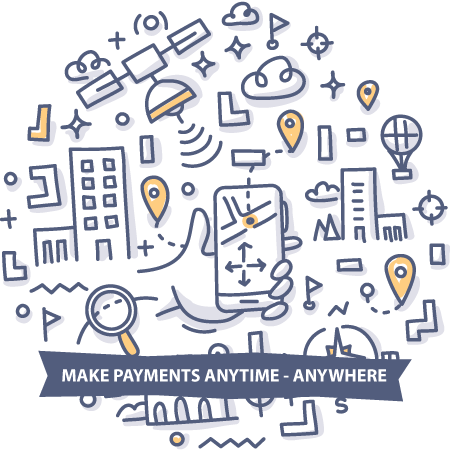 Make  payments anywhere - anytime doodle