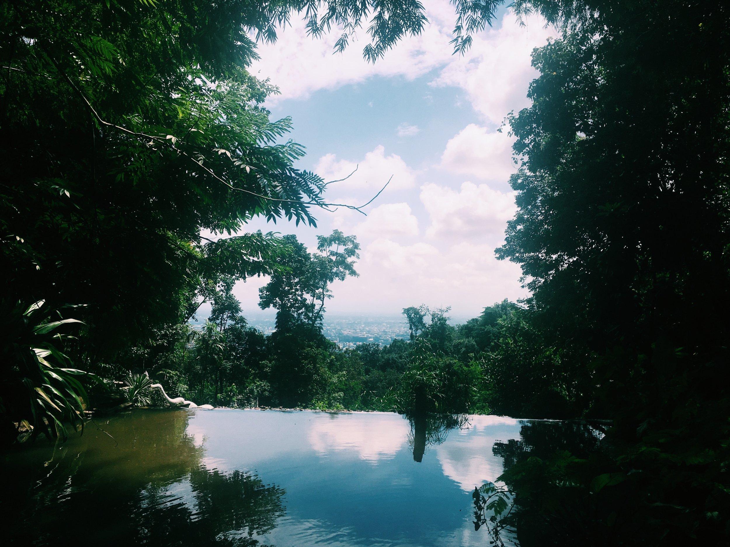 WATERFALL AT WAT SAKITHAKA