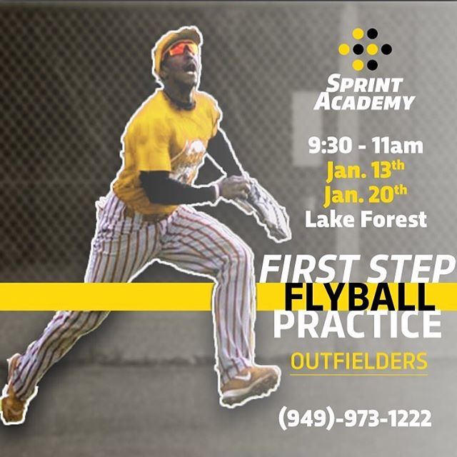 Get under the ball faster by improving your first step. Join us for a practice session (or a couple of sessions). Call or visit our website www.sprintacademy.net/events for more information. . . . #flyball #baseballpractice #firststep #outfielders #sprinting #sprintacademy #mlb #littleleague #travelball⚾️