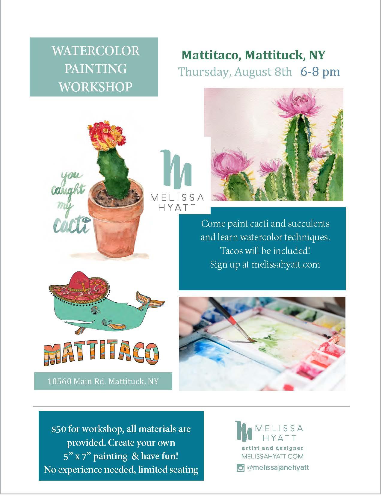 My next Watercolor Workshop -