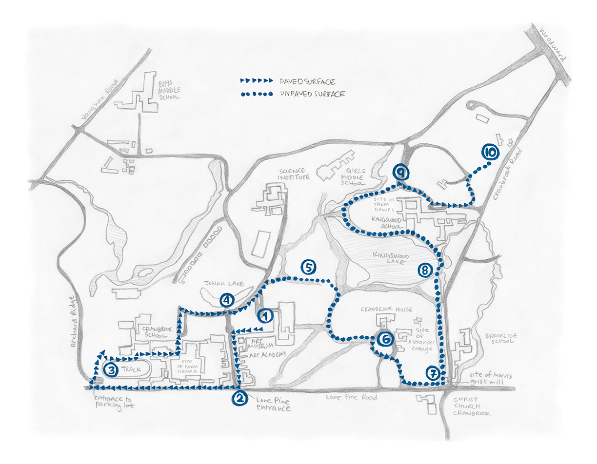 Map of walk route