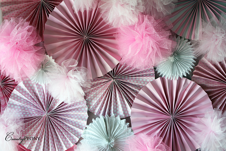 Tutu Fan Wall Backdrop for First Birthday Ballerina Party