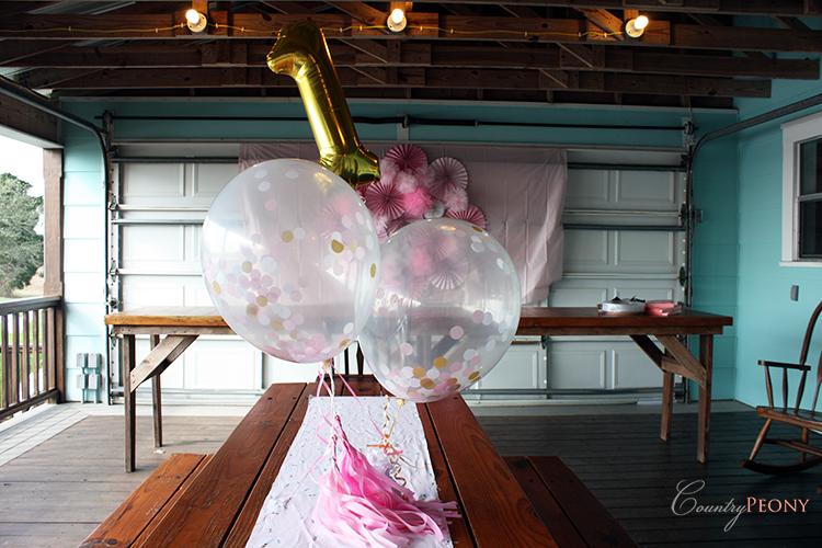 Girl's Ballerina First Birthday Party