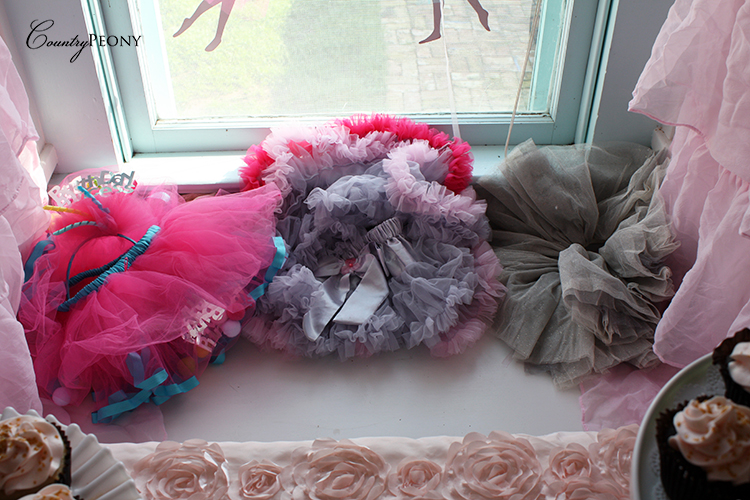 Tutu Corner for Ballerina First Birthday Party
