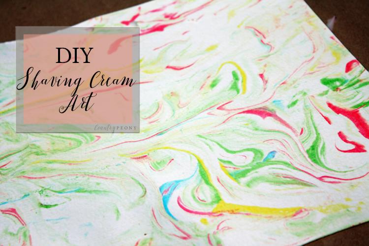 DIY Shaving Cream Art