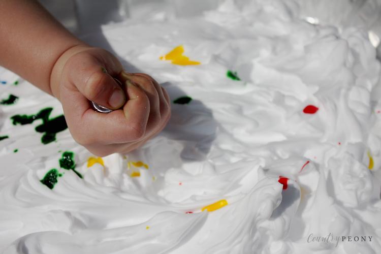 DIY Shaving Cream Artwork