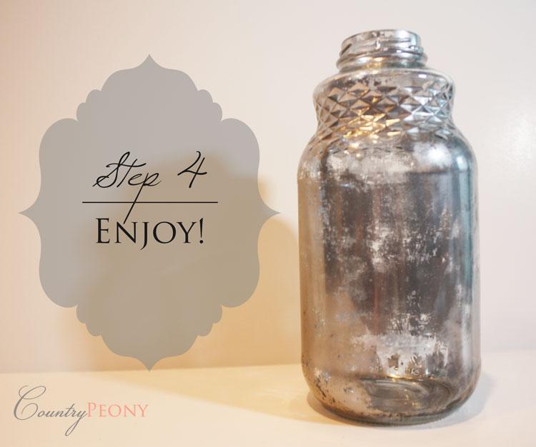 DIY Faux Mercury Glass