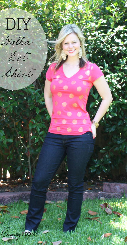 DIY Polka Dot Shirt