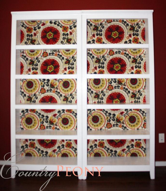 Fabric Back Bookcase