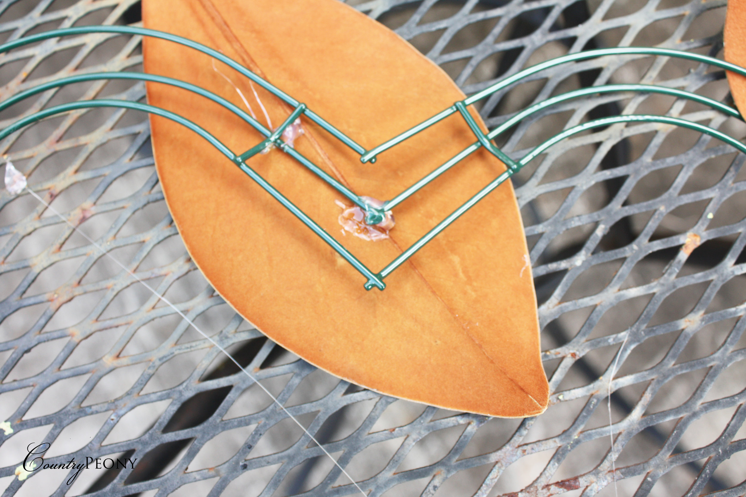 DIY Magnolia Heart Wreath
