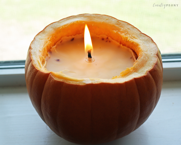 DIY Real Fall Pumpkin Candle