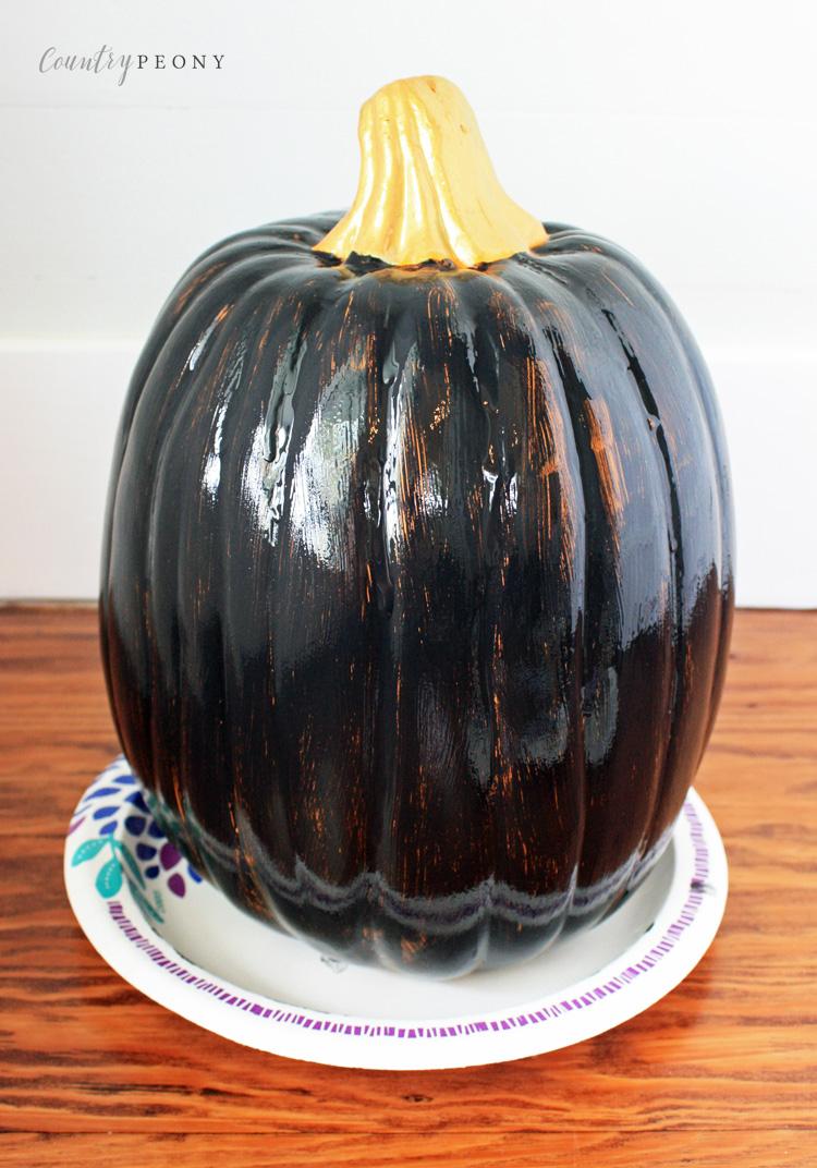 DIY Fall Chalkboard Pumpkin