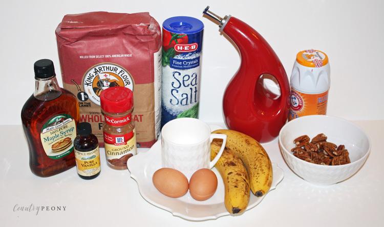 Homemade, Healthy Whole Wheat Banana Nut Bread