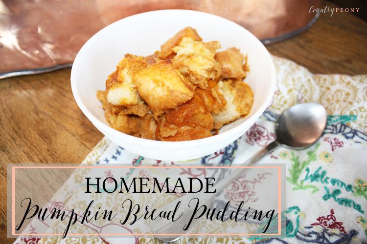 Homemade Pumpkin Bread Pudding