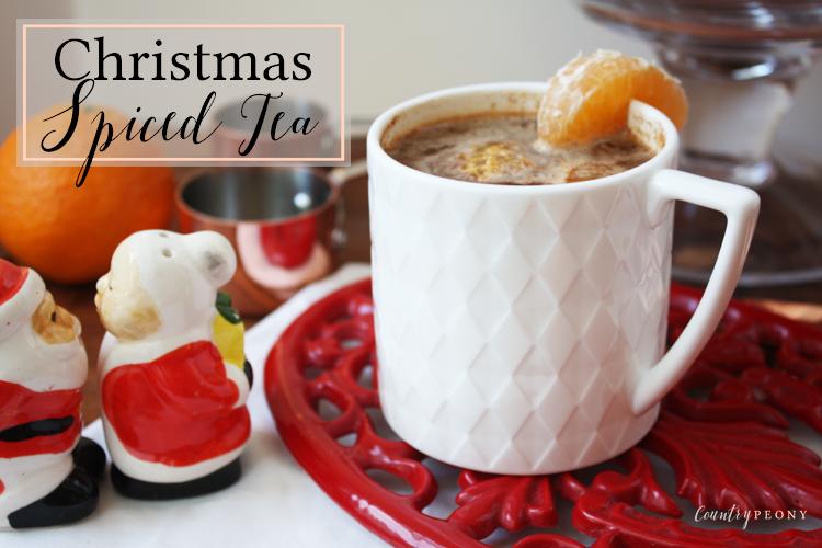 Homemade Christmas Spiced Tea