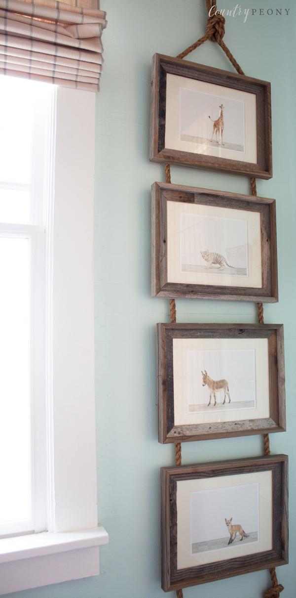 Baby Animal Prints Display for Nursery