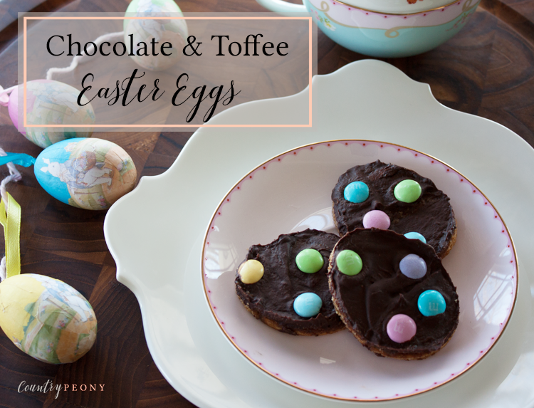 Homemade Chocolate & Toffee Easter Eggs