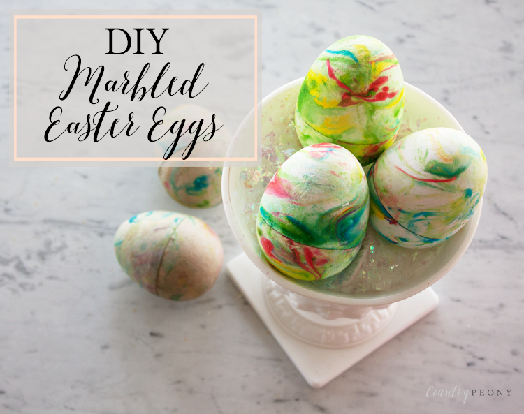 DIY Marbled Easter Eggs with Shaving Cream