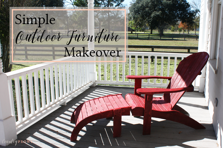 Red Outdoor Furniture Spray Paint Makeover