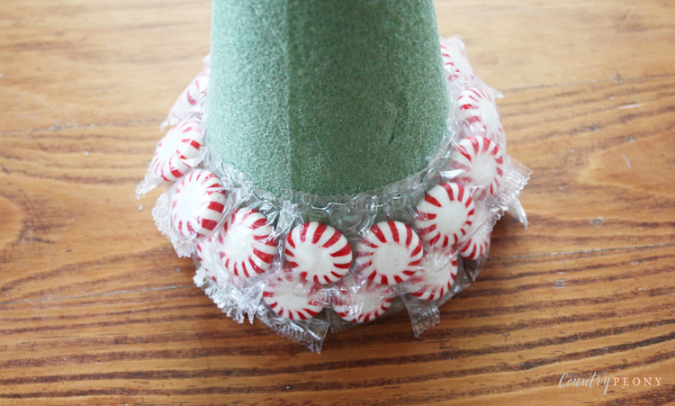 DIY Peppermint Candy Christmas Tree