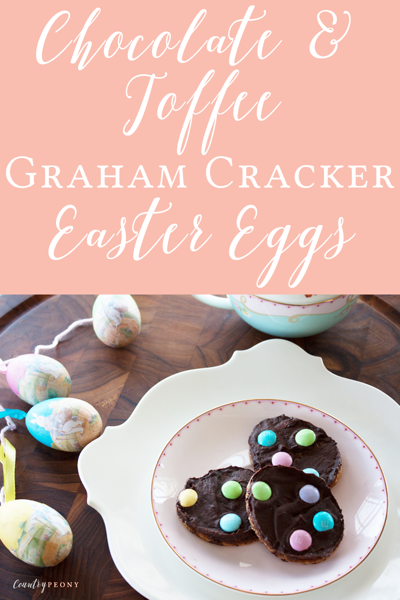 Chocolate & Toffee Graham Cracker Easter Eggs