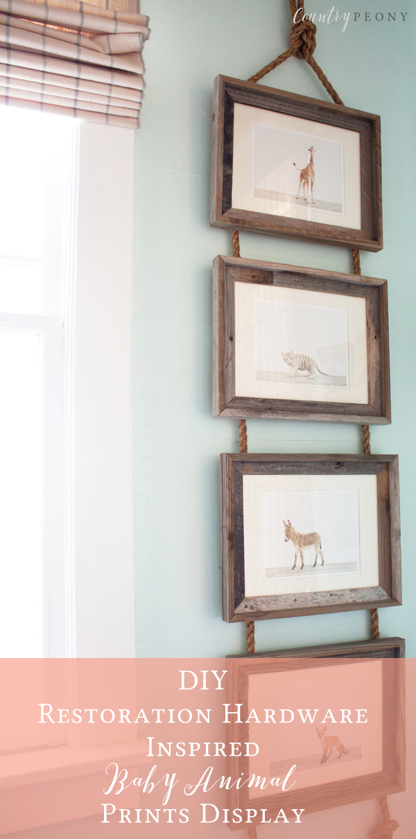 DIY Restoration Hardware Inspired Baby Animal Prints Display