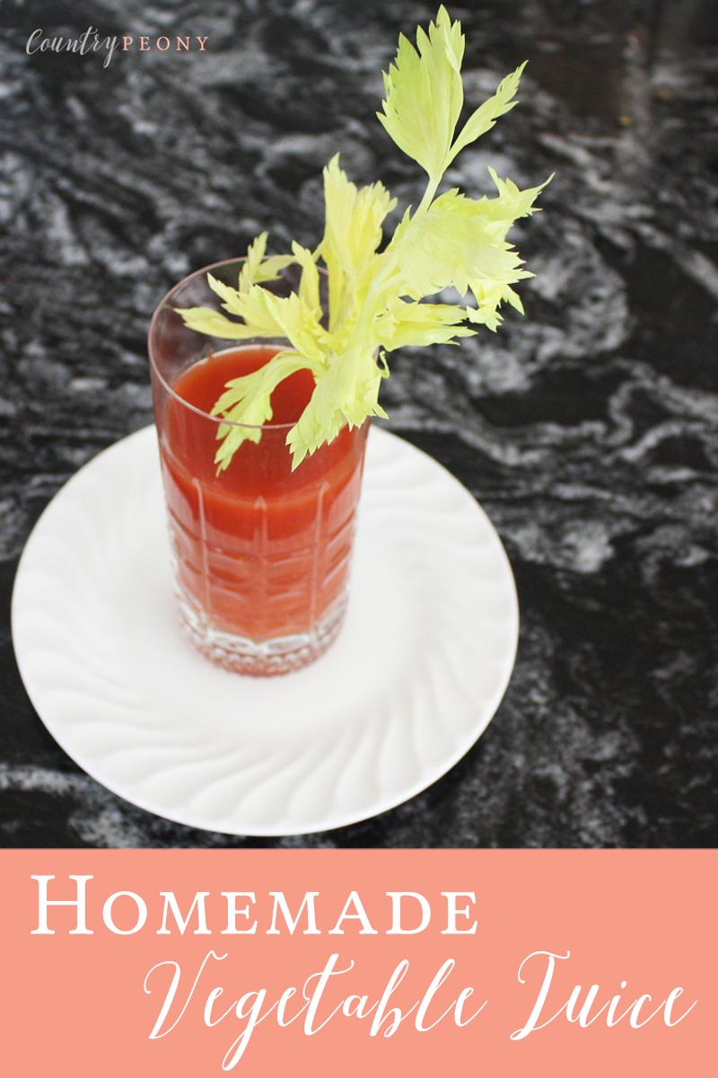 Homemade Vegetable Juice