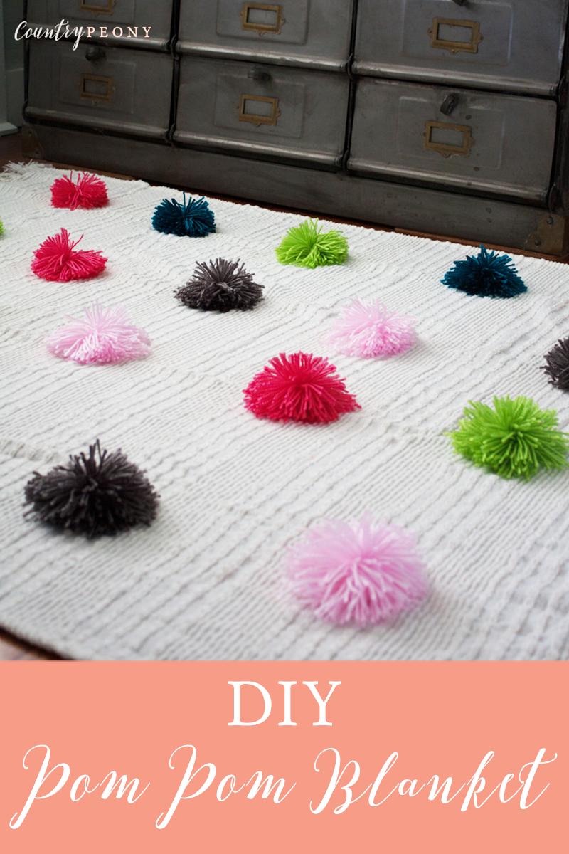 DIY Pom Pom Blanket