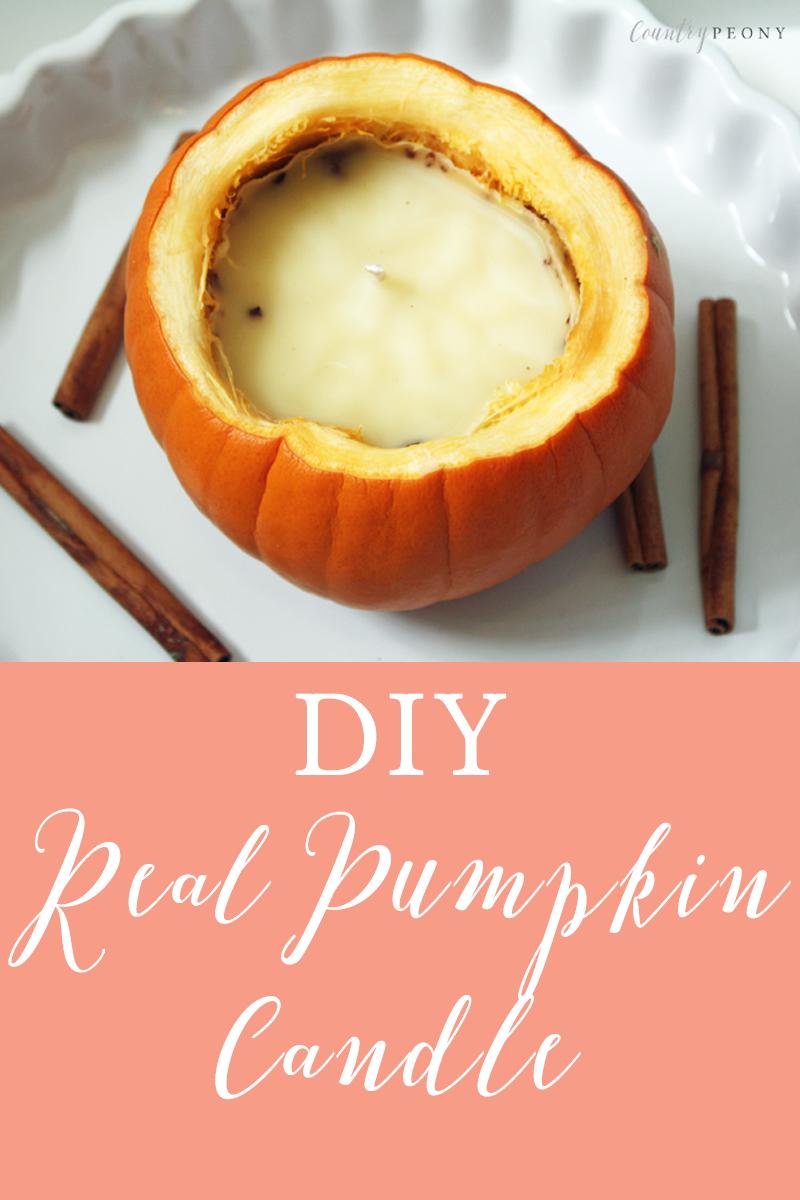 DIY Real Pumpkin Candle