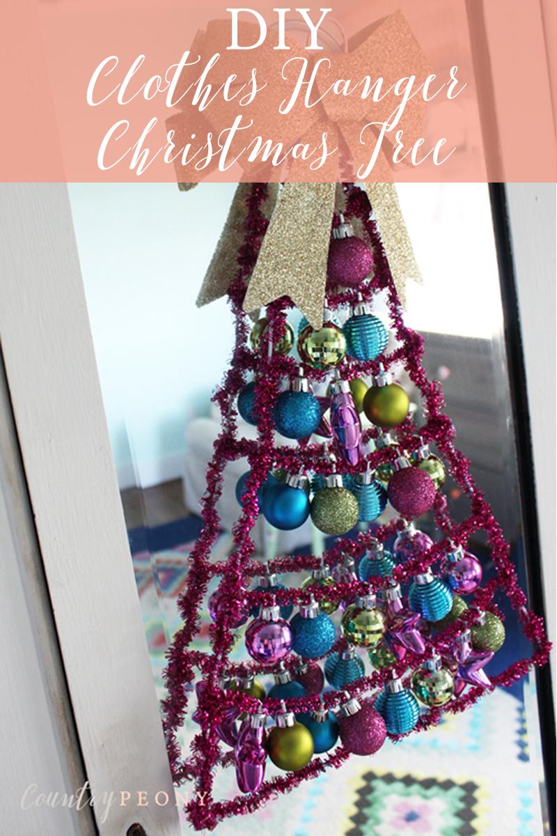 DIY Clothes Hanger Christmas Tree