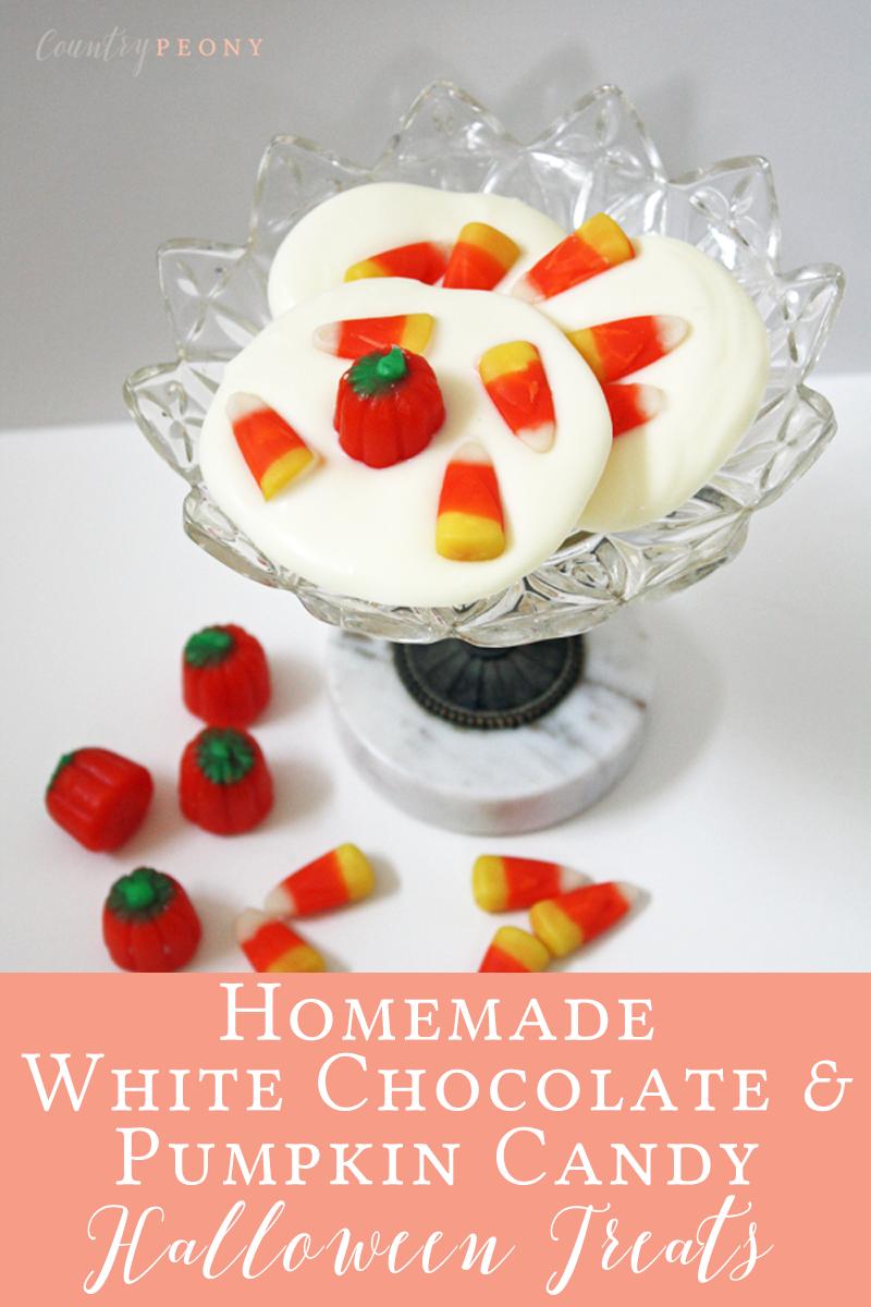 Homemade White Chocolate & Pumpkin Candy Halloween Treats
