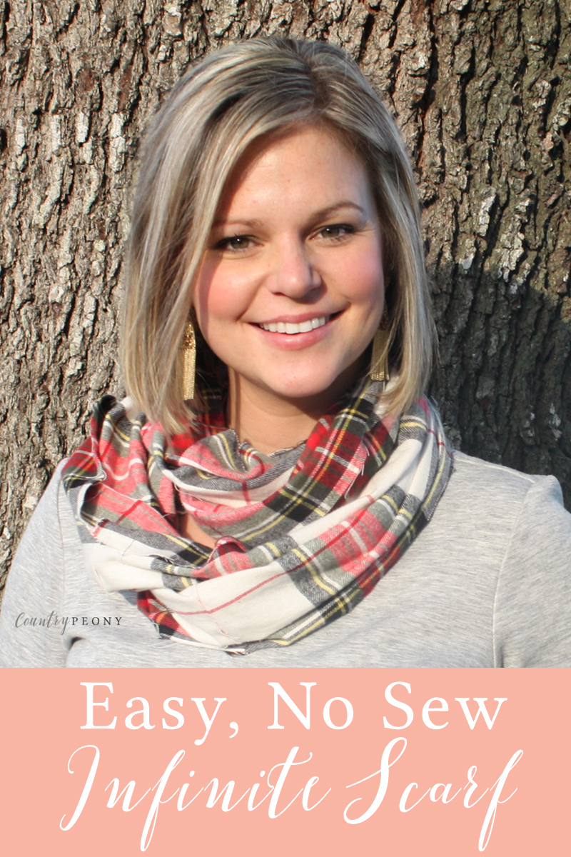 Easy, No Sew Fall Infiniti Scarf