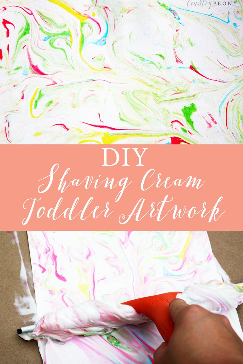 DIY Shaving Cream Toddler Artwork