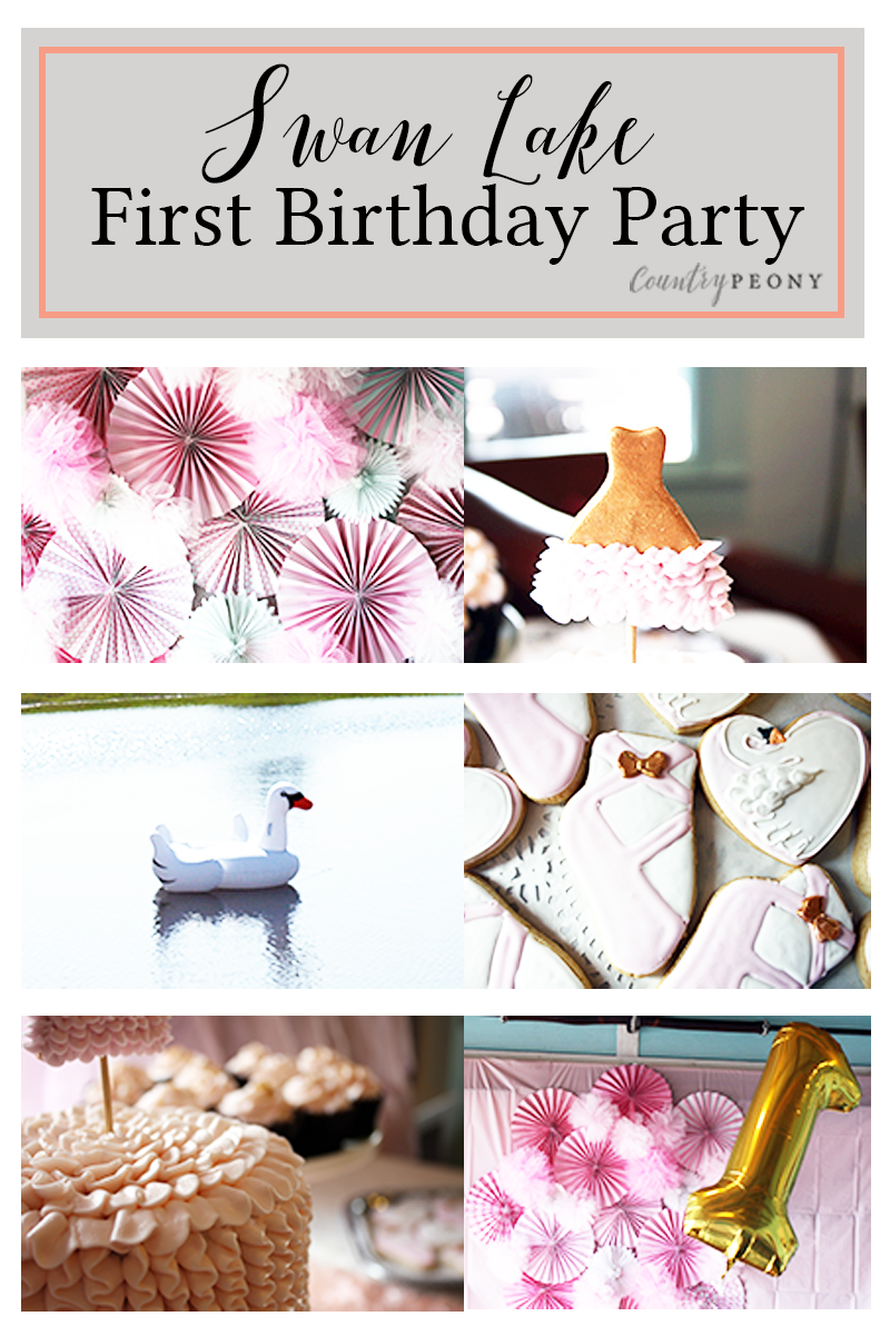 Swan Lake First Birthday Party