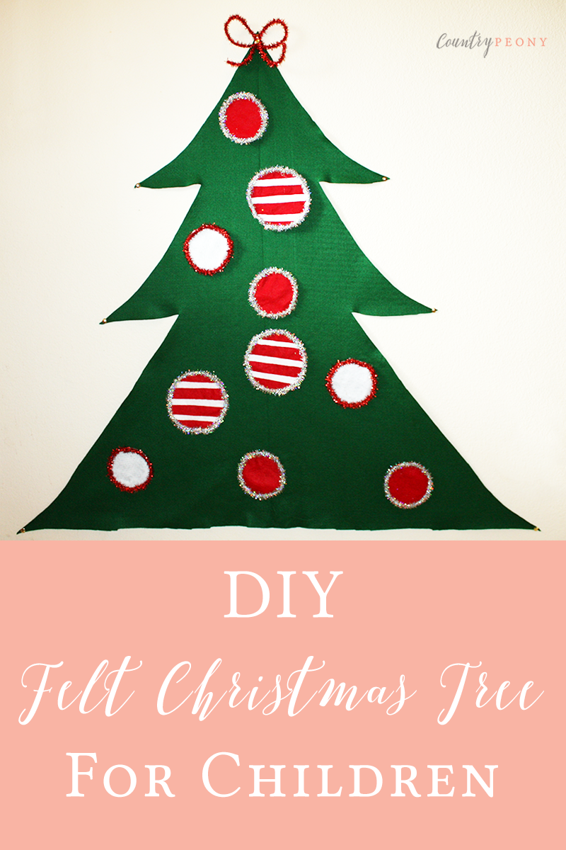 DIY Christmas Felt Tree for Children