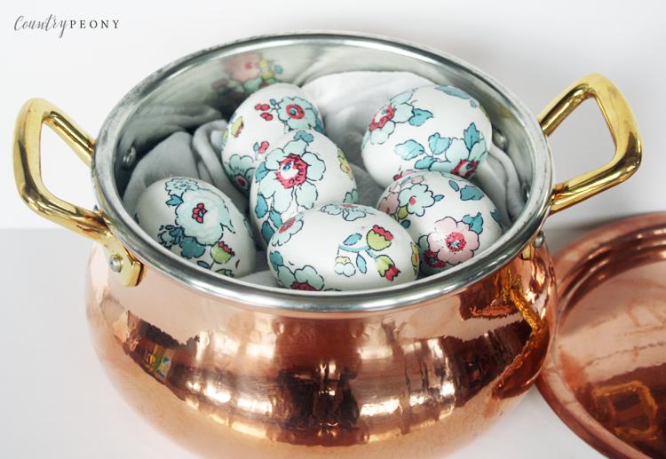 DIY Floral Easter Eggs