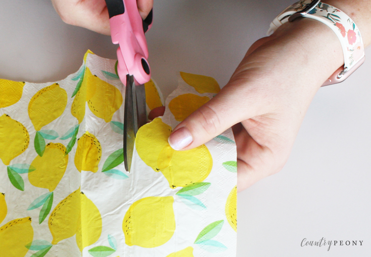 DIY Patterned Glass Plates with Mod Podge