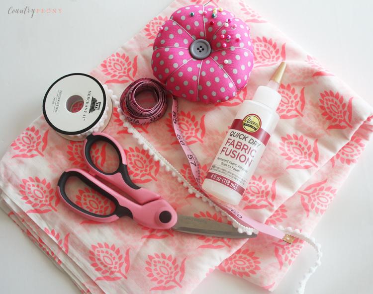 DIY No Sew Spring Pom Pom Infiniti Scarf