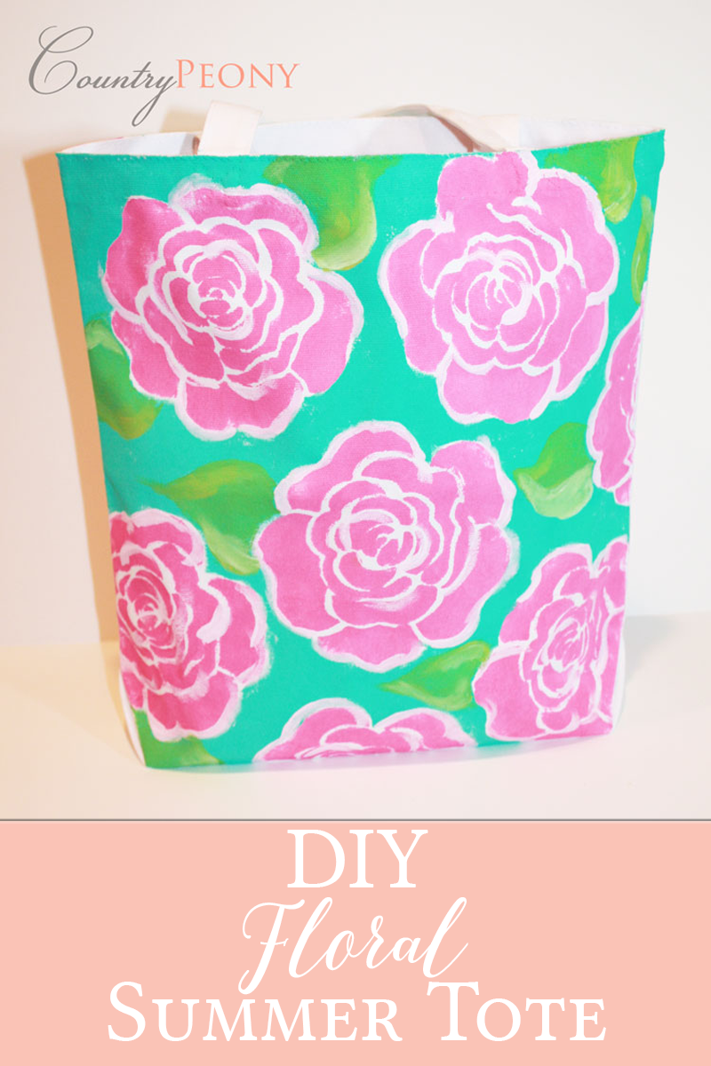 DIY Floral Summer Tote
